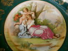 VICTORIA AUSTRIA CABINET PLATE GIRL CUPID HAND PAINTED SIGNED KAUFAMANN