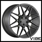 20 ZENETTI MILAN BLACK CONCAVE WHEELS RIMS FITS BMW E71 E72 X6