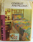 McCall's 3864 Vintage 1973 Coverlet and Pillows QUILT PATTERN