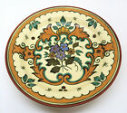 VINTAGE MEDAL ROYAL GOUDA HAND PAINTED FLORAL DISH SIGNED AND NUMBERS