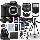 Nikon D5200 DSLR Camera + 18 55mm VR NIKKOR Lens + 24GB Multi Accessory Bundle