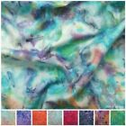 100% Cotton Batik Tie Dyed Marble Craft Quilting Patchwork Dress Making Fabric