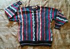 VTG Cotton Traders Sweater Large Cosby Biggie Coogi 3D Texture Thick Cotton
