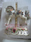 Heritage Home County Fair Carousel Horse Musical Decorative Statue Red Gems 752