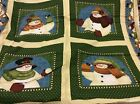 SNOWMEN PANELS WITH DOUBLE BORDER BY ANGELA ANDERSON FOR VIP CRANSTON