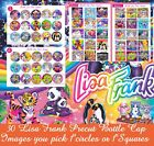30 Precut Lisa Frank Bottle Cap Images1 Circles For Bows  Jewelry SHIPS FREE
