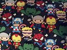 Ready to Ship Marvel Kawaii 49081 Packed Characters Cotton BTY Fabric
