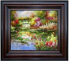Framed Claude Monet Water Lily Pond Repro XII, Hand Painted Oil Painting 20x24in