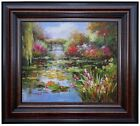 Framed Claude Monet Water Lily Pond Repro XIII Hand Painted Oil Painting 20x24in