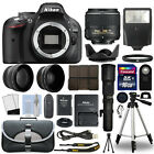 Nikon D5200 DSLR Camera + 4 Lens 18 55mm VR + 500mm + 16GB Telephoto Kit