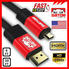 Micro HDMI to HDMI Cable Adapter Converter for GoPro 4 HERO 3 HTC EVO 4G Droid