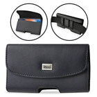 REIKO Leather Carrying Sideways Belt Clip Case Pouch Holster for LG Cell Phones