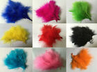 50 100 pcs Feathers Marabou 2 4 Inch fly tying costuming 11 colors