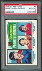 1976-77 OPC #4 Penalty Minute Leaders Durbano PSA 8