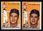 2 DICK KOKOS ORIOLES LOT 1954 TOPPS #106 VERY GOOD NO CREASES