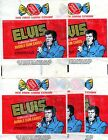 1978 BOX CAR ENTERPRISES ELVIS PRESLEY COLLECTOR CARDS WAX PACK WRAPPERS LOT