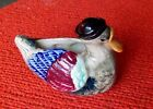 VINTAGE PAPA DUCK BRINGING HOME THE GOODS - STAMPED JAPAN -  HAND PAINTED