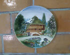 Vintage Cico Germany Hand Painted Majolica Farm House Country Wall Plaque Plate