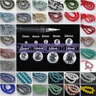 Wholesale Rondelle Faceted Crystal Glass Spacer Loose Beads Findings 3mm 10mm