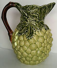 Olfaire Majolica Pitcher Grapes and Leaves Portugal