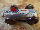 Vintage Race Car wind up tin toy Single Seat Racer