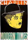 MODERN TIMES Movie Poster 1936 Charlie Chaplin RARE ART