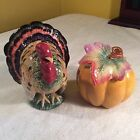 Fitz And Floyd Classics Harvest Heritage Salt And Pepper Shakers