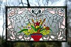 3475L x 2075H Handcrafted Beveled stained glass window panel Flower