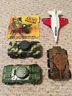 Lot of Tootsietoy Tanks, Cannon and Fighter Jet