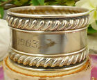Vintage Gorham Sterling Silver Pattern 'No. 522' Napkin Ring; Gadroon Borders!!