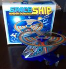 Vintage Space Ship Wind-Up Turn Action Toy original box With Key