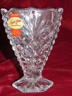 Anna Hutte Lead Crystal Vase 24% PbO, Germany Bleikristall Footed