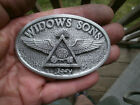 ladys widow's sons,freemasons,all seeing eye, harley masonic bikers vest badge