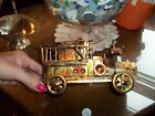 Vintage Berkeley Designs Copper Fire Truck Music Box