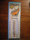 AUTHENTIC MARVELS CIGARETTE TIN ADVERTISING THERMOMETER VINTAGE 436 H