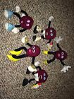 5  Vintage 1988 California Raisin Plush Figures Applause  LOT