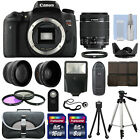 Canon EOS T6s 760D DSLR Camera + 3 Lens Kit 18 55mm IS STM + 24GB + Flash
