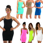 Extra Long Seamless Tunic Dress Slip Camisole Layering Tank Top Spandex One Size