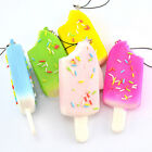 Squishy Sprinkles Popsicle Phone Straps Soft Bread Scented Key Chains Kids Gift