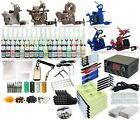 Complete Tattoo Kit 6 machine Gun Power Supply TK 33 54 Color Inks