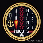 MUOS 5 ATLAS V Launch ORIGINAL USAF DOD NAVY Classified SATELLITE SPACE PATCH
