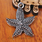 20 pieces 23mm starfish pendant Charms Tibetan Silver DIY Jewelry Making A7088