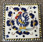 Deruta Pottery-4x4inch Tile With Rooster.Made/Painted by hand in Italy