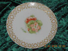 Vintage Hand Painted China plate P Schirer Floral with Decorative border