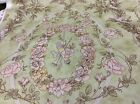 MOONDANCE RIBBON ROSES ON GREEN BY ROBYN PANDOLPH--1 1/2 YARDS