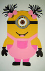Minion Girl Kathy Paper Die Cut Paper Piecing Scrapbook Embellishment