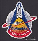 VINTAGE ORIGINAL LION BROS STS 1 Columbia NASA SPACE SHUTTLE Mission PATCH