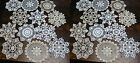 lot of 24 Hand Crochet Doilies 7 White  Natural Vintage Wedding Tea Party NEW