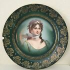 Vintage ROYAL VIENNA Portrait Plate STAR SCARF Queen Louise Prussia GOLD Beehive
