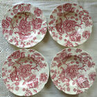 Johnson Bros. Brothers ENGLISH CHIPPENDALE RED PINK Rose Chintz Rimmed Soup Bowl